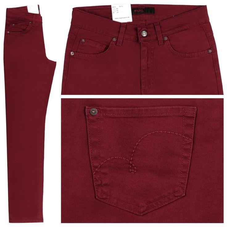 #Damen Angels Dolly Jeans velvet red, 04050729778304
