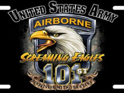 "101st Airborne Div, ""Screaming Eagles"", elite modular specialized light infantry division of US Army trained for air assault operations, most potent & most tactically mobile of US Army's divisions, referred to as ""the tip of the spear."" During World War II, renowned for role in Operation Overlord (D-Day landings & airborne landings on June 6, 1944, in Normandy, France), & its action during Battle of the Bulge around the city of Bastogne, Belgium."