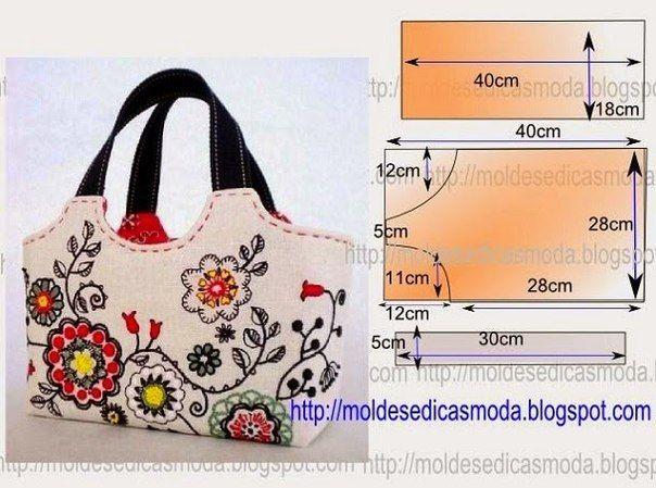 Ideas para el hogar: 6 Bolsos en costura fácil con moldes http://ideasparaelhogardegaby.blogspot.com/2015/07/6-bolsos-en-costura-facil-con-moldes.html