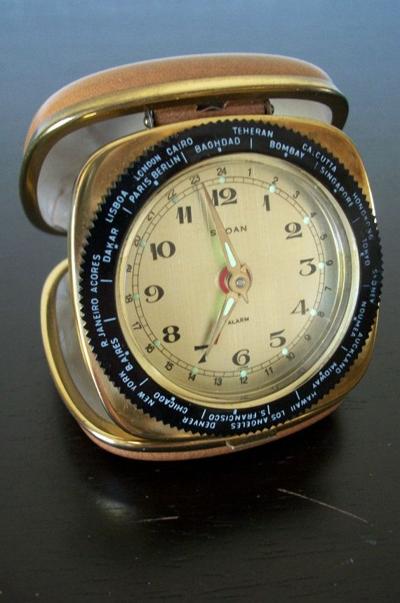 Lions Club International Vintage World Time Travel Alarm Clock by Sloan, $25.00