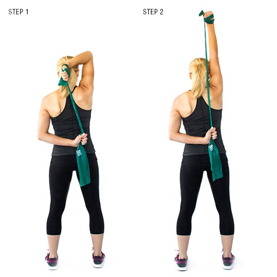 Exercise Bands For Beginners: Resistance Band Triceps Extension