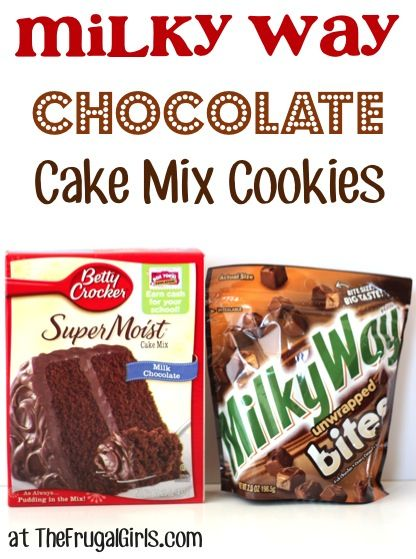 Milky Way Chocolate Cake Mix Cookies Recipe! ~ these cookies are out-of-this-galaxy-good! #cookie #recipes