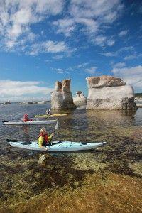 Kayak dans l'Archipel-de-Mingan © Éric Marchand