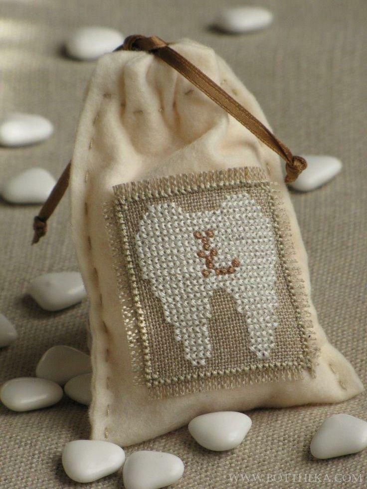 Little milk tooth bag cross stitch FREE http://bottheka.com/en/little-milk-tooth