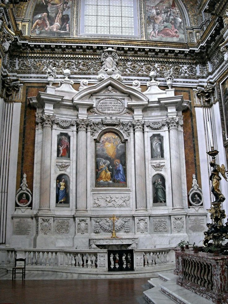 Francesco Borromini. Altare Filomarino. Chiesa dei Santi ...