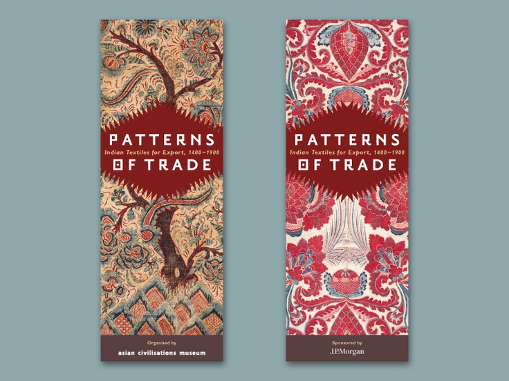 Asian Civilisations Museum Patterns of Trade Exhibition Identity & Logo Design | Relay Room - Typography-led Branding & Design