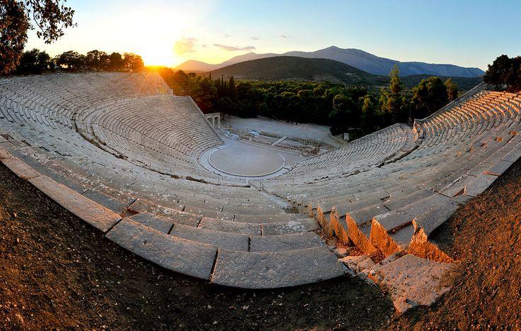 The ancient theater of Epidaurus, Peloponnese, Greece