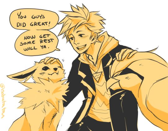 Spark being his encouraging self. :)