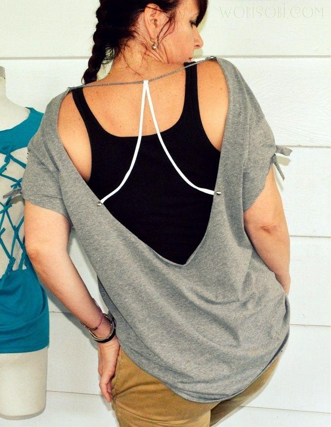 WobiSobi: Open Back, No Sew Tee-Shirt. DIY