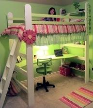 Cool loft and desk
