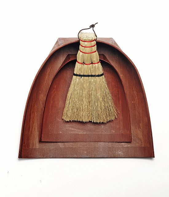 """Harimi Dustpan by Masanori Oji  """"The harimi dustpan is made of thick layers of paper. the surface of which is coated with persimmon tannin"""""""