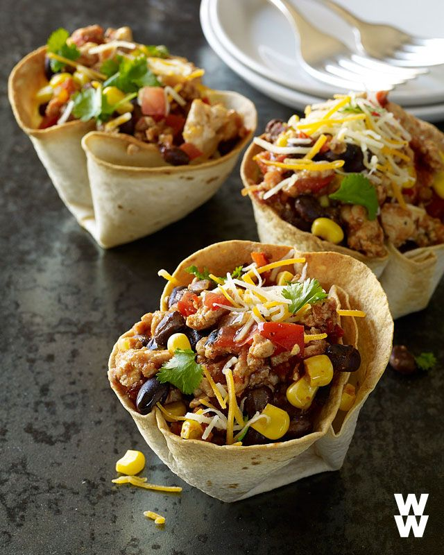PIN FOR LATER: When you're all Thanksgiving-ed out but still have enough turkey for another meal. Try these Turkey Taco Cups!