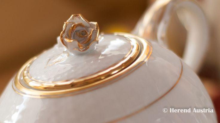 Tea Pot with Rose Knob - Hadik Herend Porcelain, HD