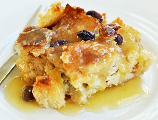 Bread Pudding with Ledson Brandy Caramel Sauce paired with Russian ...