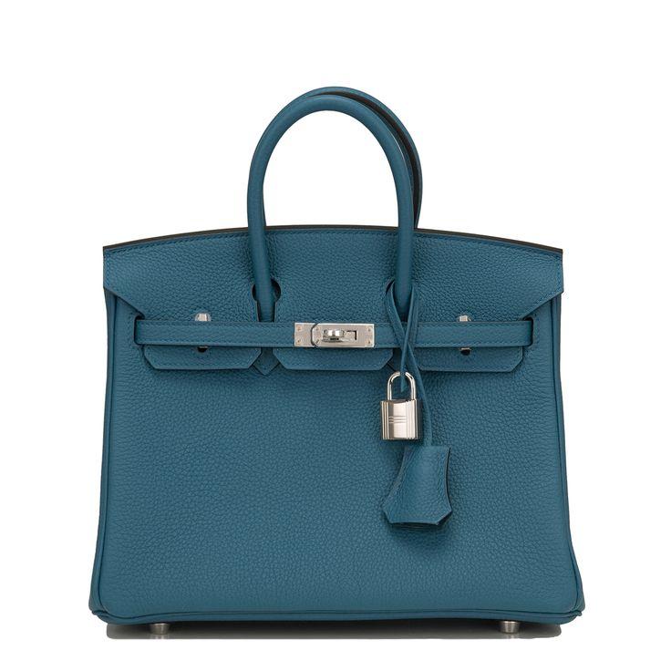 Hermes Birkin Bag 25cm Cobalt Togo Palladium Hardware Image 1