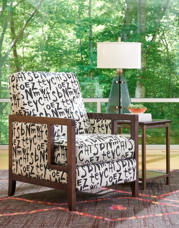 La-Z-Boy Edge Chair | This arm chair offers a fun, artistic vibe. Plus, PIN TO WIN an ottoman! Get contest details at http://houseandhome.com/la-z-boy | #LaZBoy #ArmChair #LivingRoom #Furniture