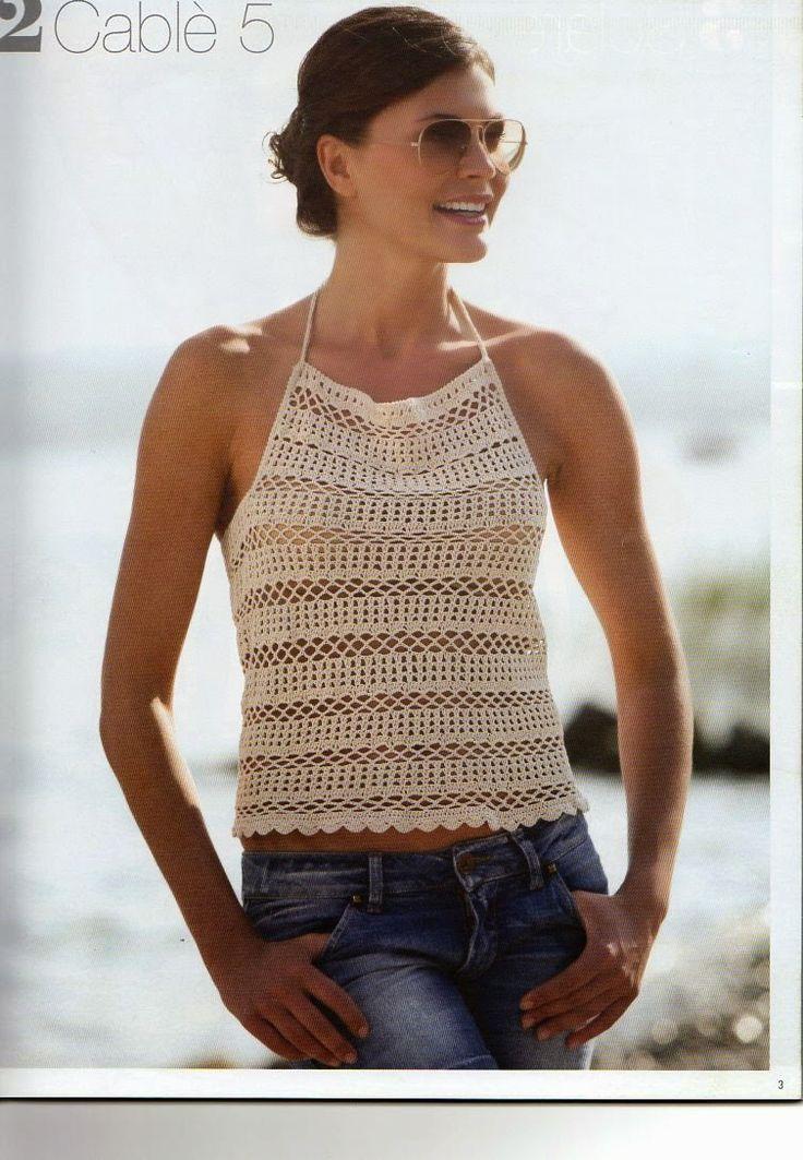 lo spazio di lilla: Top, stole e abiti estivi a maglia e uncinetto con spiegazioni / Summer knit and crochet patterns