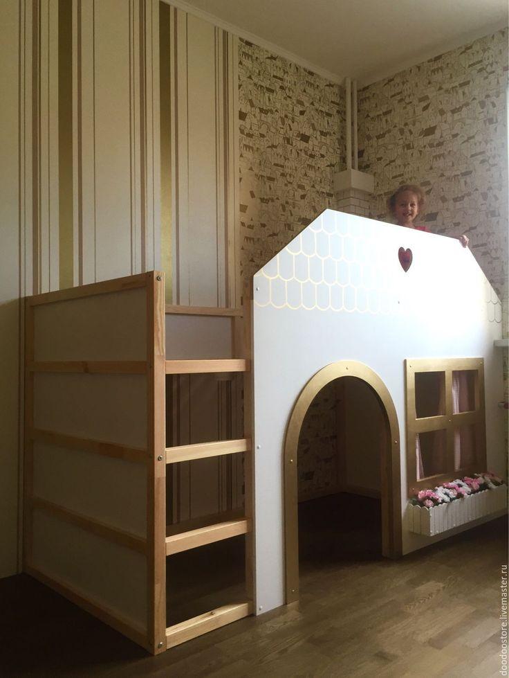 """Купить Декор детской кровати """"Домик"""" - кровать, кровать детская, детская комната, детская кроватка"""