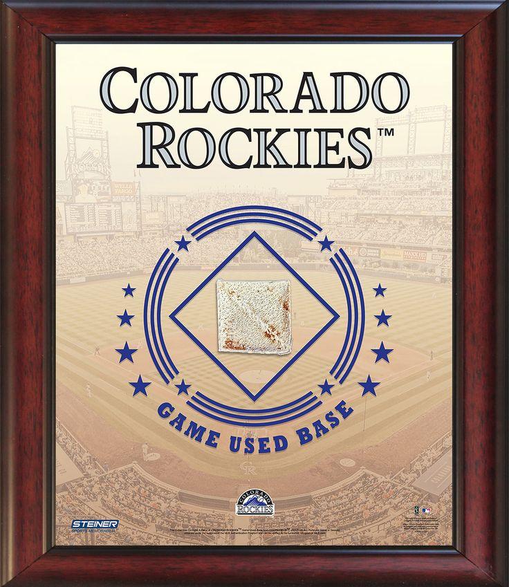 Colorado Rockies Game Used Base 11x14 Stadium Collage