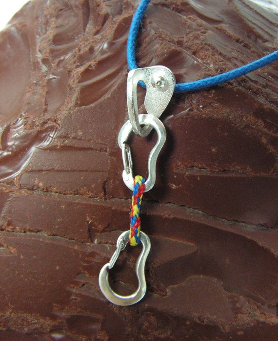 Climbing Quickdraw and Bolt Hanger FULLY by CocoClimbingJewelry #quickdraw #quick-draw #bolt-hanger #climber #bouldering #carabiners #karabiner