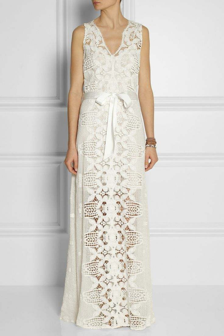 Eve crocheted cotton lace maxi dress 695 i would like it for Crochet wedding dresses for sale
