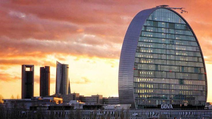 Panorámica del norte de Madrid, donde se localiza la nueva Ciudad BBVA en Madrid, bautizada como 'La Vela'