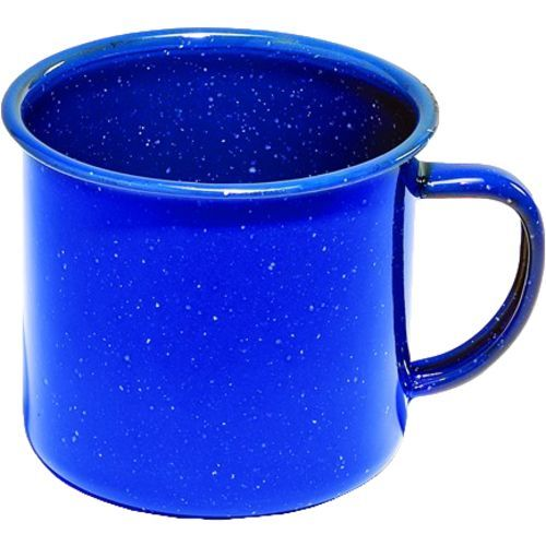 Texsport 24 oz. Enamelware Coffee Mug - $1.99 - This large cup is really the only drinking or eating dish you need.  It can withstand high temperatures and can be cleaned with sand without damaging the enamel coating.