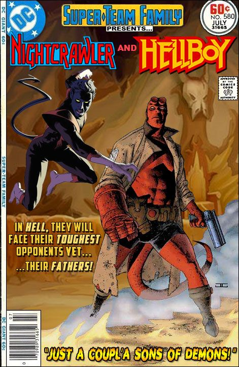 Super-Team Family: The Lost Issues!: Nightcrawler and Hellboy
