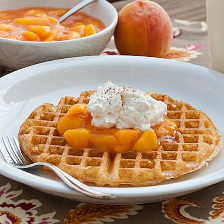 Fresh Peach Topping for Waffles, Pancakes, etc. - Real Mom Kitchen