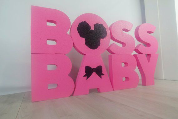 Boss Baby Afro American Girl Foam Letters Set With Images