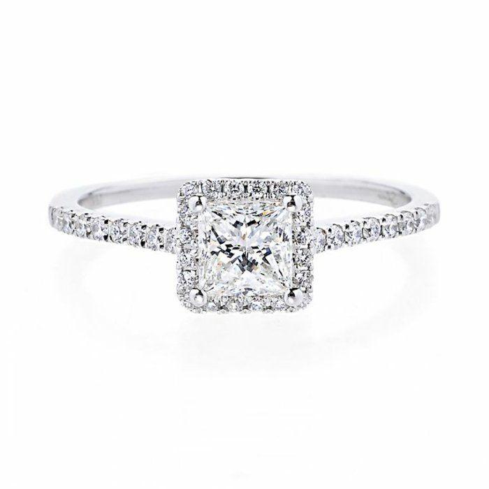Bague de fiancaille diamant solde