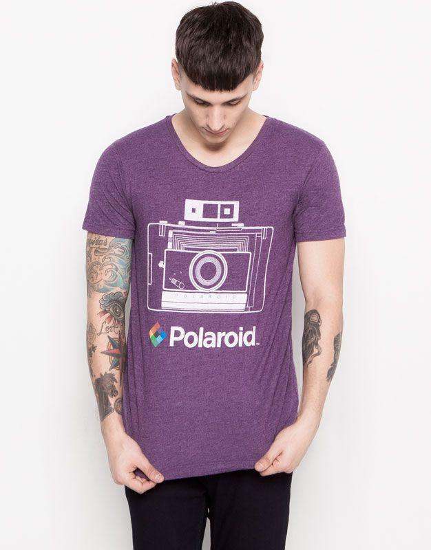 Pull and Bear Polaroid T-Shirt