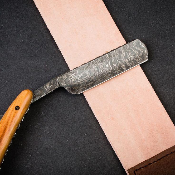 Leather sharpening strap straight blade razor straight