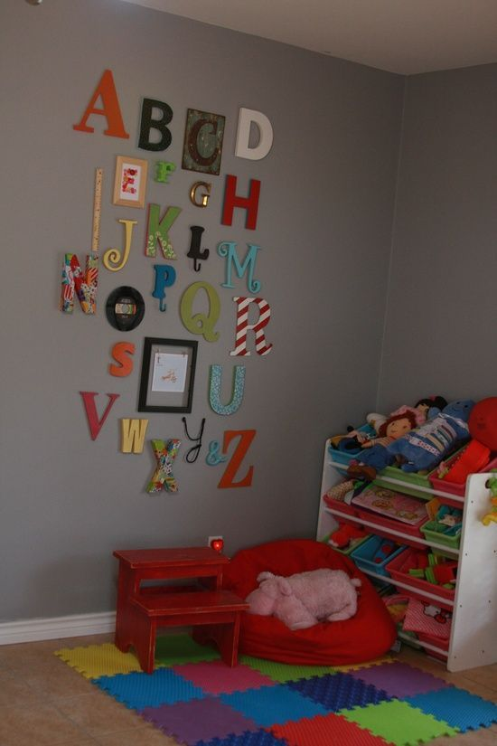 alphabet wall. in dr suess play room                                                                                                                                                     More