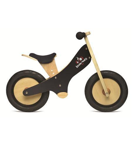 Kinderfeets Wooden Balance Bike W/ Chalkboard Frame Kin-chalk-black