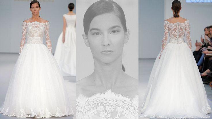 Las novias de Hannibal Laguna, más atrevidas que nunca, se visten de azul y rosa #wedding #bridal #novia #zapatos