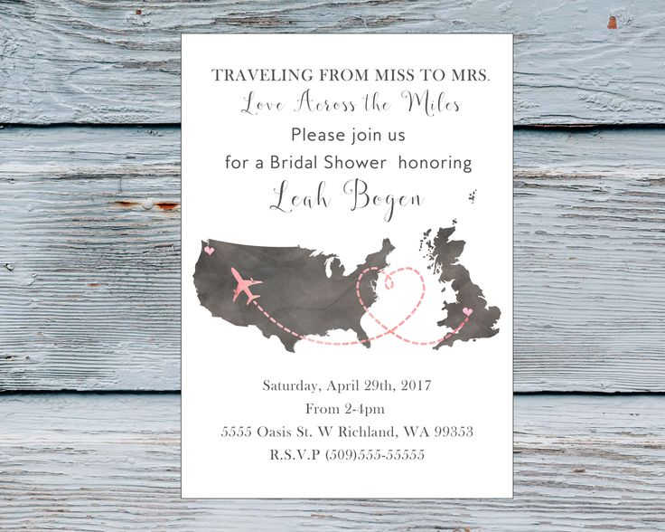 Bridal Shower Invitations Usa