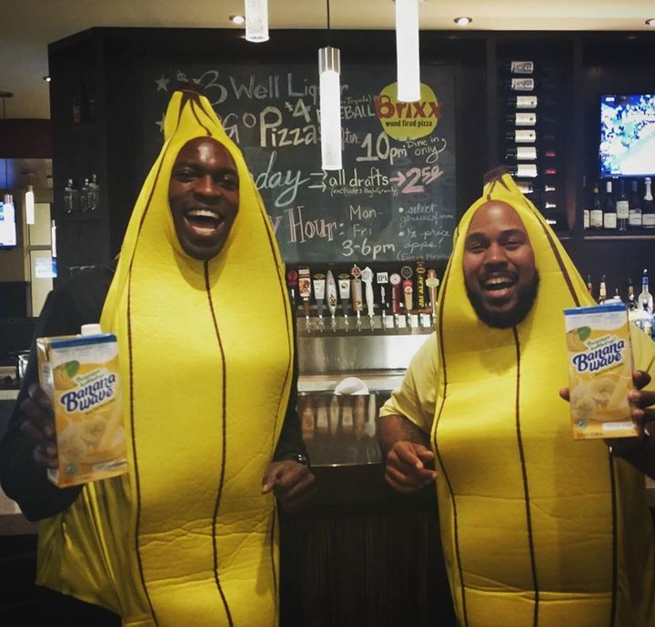 """These guys went bananas over our pizzas! #brixxpizza #brixxwoodfiredpizzajax #drinkbananawave #bogoafter10pm Be sure to """"Follow"""" Brixx Wood Fired Pizza - Jax on Pinterest @brixxwoodfiredpizzajax Vist Brixx Wood Fired Pizza at 220 Riverside Ave. Jacksonville FL"""