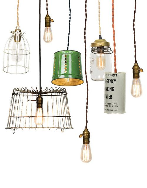 More inspiration for pendant lights #upcycle #lighting