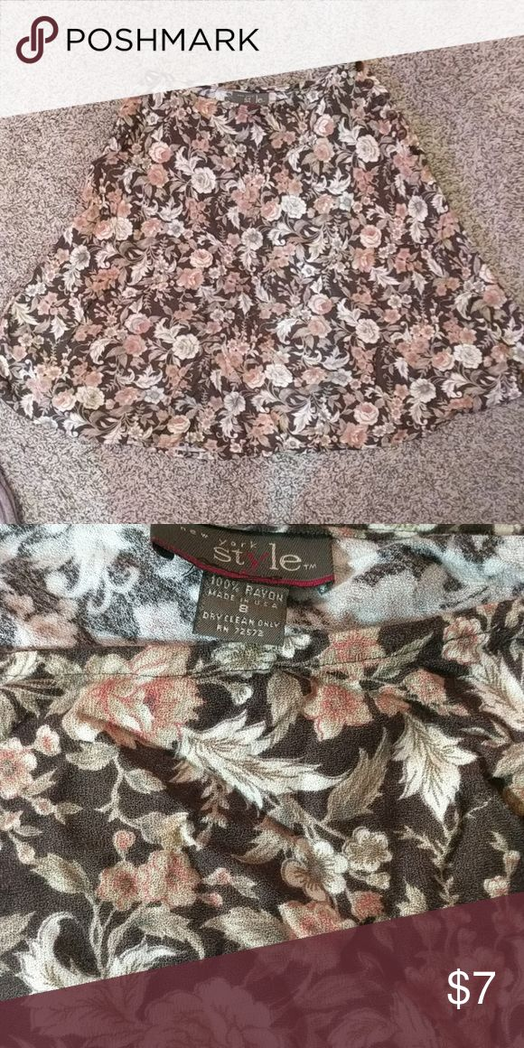 Skirt Floral dress skirt, excellent condition New York Style Skirts