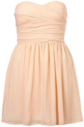 Chiffon Bandeau Dress: Bridesmaid Dresses, Pale Pink, Chiffon Bandeau, Prom Dresses, Graduation Dresses, Bandeau Dresses, Colors Black, Chiffon Dresses, Pink Evening Dresses