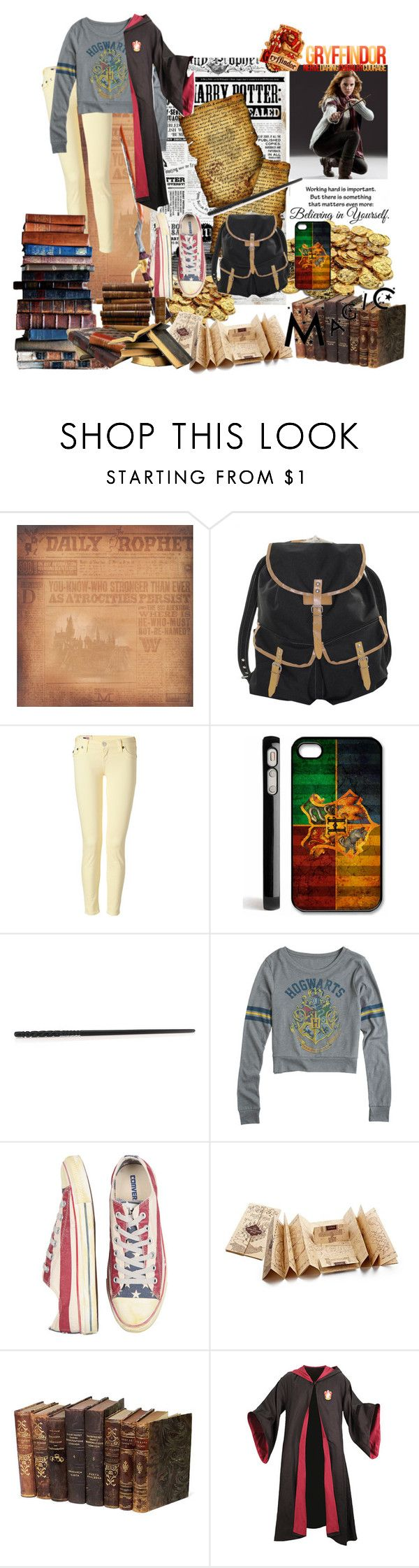 """""""Hogwarts style!!"""" by star-7 ❤ liked on Polyvore featuring Emma Watson, S.W.O.R.D., True Religion, Samsung and Converse"""