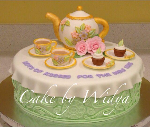 Bridal Showers - Tea Party Cake