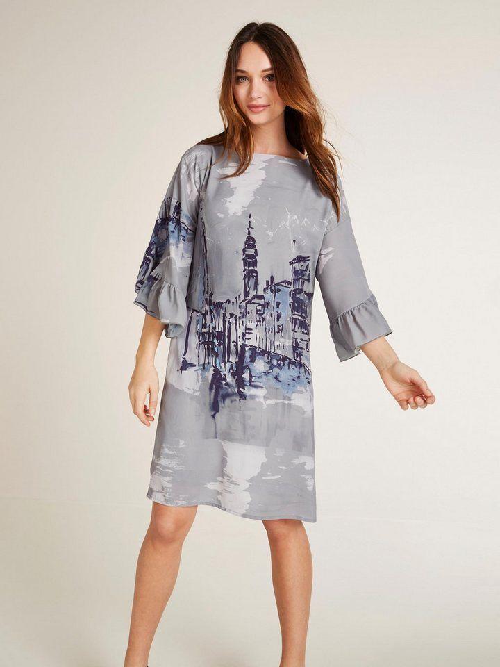 cfda9263167968 heine TIMELESS Kleid mit Volant | dress | Pinterest | Kleid mit volant,  Frühjahr sommer und Frühjahr