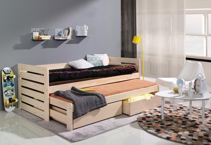 """Enkelsäng """"Thomas"""" (2 sängar) med förv. + madrass, fri frakt"""