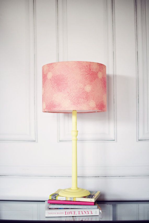 Pink lamp shade pink lighting pink summer by ShadowbrightLamps
