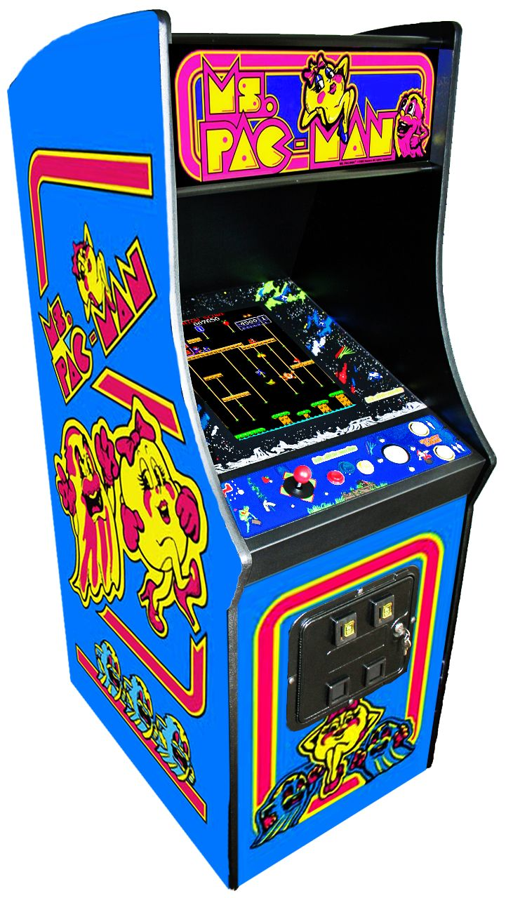 ms pacman and galaga arcade machine