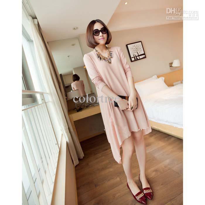 elegant Chiffon Dress pregnant women irregular long maternity dress knee-length Summer vest dress casual dress 2013