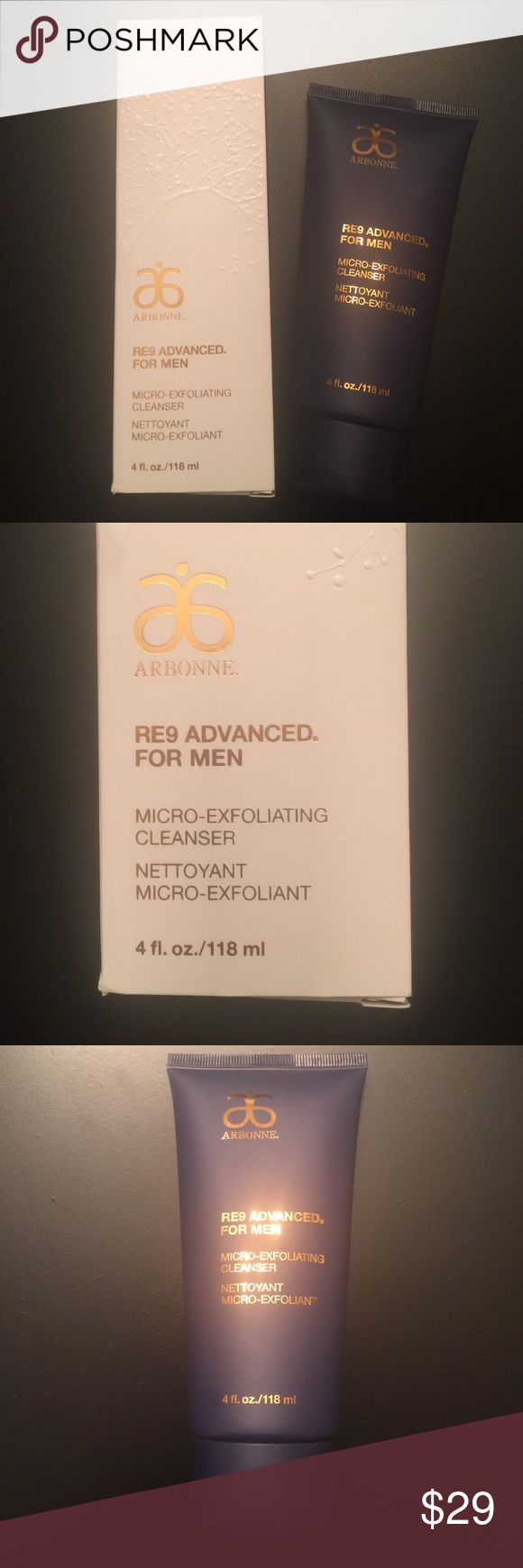 """New"" Men Facial Cleanser Micro-Exfoliating Men Cleanser. This is a dual purpose cleanser that washes away dirt and oil buildup and helps reduce ingrown hairs. New in box Arbonne Other"