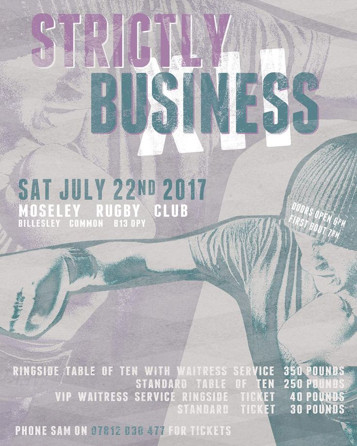Less than a week until Strictly Business Boxing XII. As always tickets are selling out fast so get in touch with @samrigs now to get yours - Another action packed night of boxing held at @birminghammoseleyrugby not to be missed  - - #boxing #birmingham #solihull #moseley #midlands #boxingtraining #boxinglife #boxingbirmingham #rigsfitness #gym #fitness #exercise #fight #fightfans #fighter #boxingfans #boxinggym